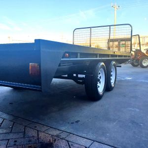10x6 Heavy Duty Flat Top Tandem Trailer for Sale in Victoria