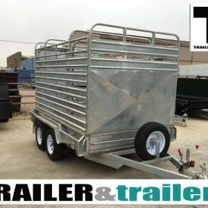 12x6 Tandem Heavy Duty Galvanised Stock Crate Trailer For Sale