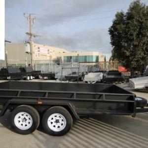 12x6x6 Full Checker Plate Tandem Axle Box Trailer for Sale in Melbourne