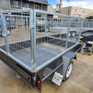 6x4 Checker-Plate Cage Trailer for Sale