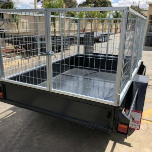 3 Feet High Galvanised Cage - 6x4 Basic Single Axle Gardening Trailer for Sale in Victoria