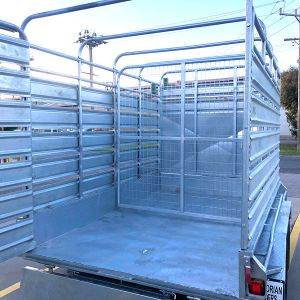 5 Feet High Stock Crate - 10x6 Galvanised Tandem Axle Live Stock Crate trailer for Sale in Victoria