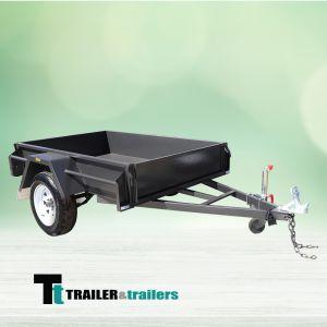 6x4 Domestic Heavy Duty Checker Plate Floor Box Trailer for Sale