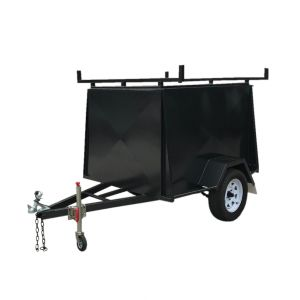 6x4 Single Axle Heavy Duty Fully Enclosed Van Trailer with Racks for Sale Melbourne Victoria