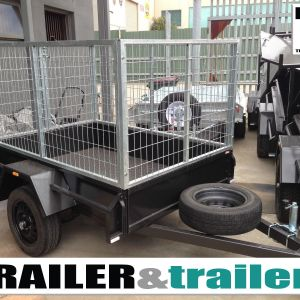 6x4 Single Axle Heavy Duty Box Trailer with 3 Ft Cage Trailer for Sale in Melbourne, Victoria - Thomastown
