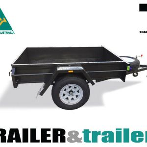 7x4 Single Axle Domestic Heavy Duty Fixed Front Smooth Floor Box Trailer for Sale