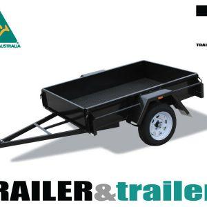 7x4 Single Axle Domestic Heavy Duty Drop Front Trailer for Sale Melbourne