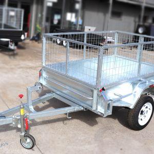 7x5 Galvanised Trailer 2ft Galvanised Cage for Sale in Melbourne Victoria