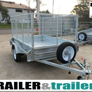 7x5 Single Axle 3 Ft Cage Heavy Duty Galvanised Trailer for Sale