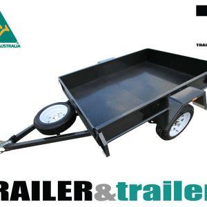 7x5 Single Axle Box Trailer for Sale