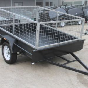 7×5 Single Axle Box Trailer 2 Ft Cage - Smooth Floor - Fixed Front for Sale in Melbourne Victoria