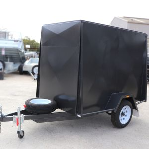 7x5 Single Axle Fully Enclosed Van Cargo Trailer for Sale Melbourne