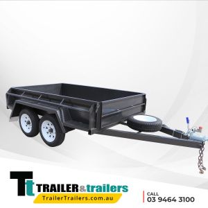 Heavy Duty High Sides Tandem Axle Box Trailer for Sale Melbourne Victoria