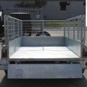 8x5 Galvanised Tandem Trailer for Sale with 2 Ft Cage in Melbourne, Victoria