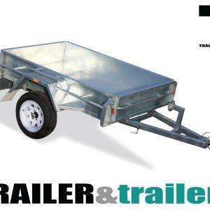 8x5 Heavy Duty Galvanised Manual Tipper Trailer for Sale