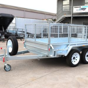 8x5 Tandem Axle Galvanised Cage Trailer for Sale in Melbourne