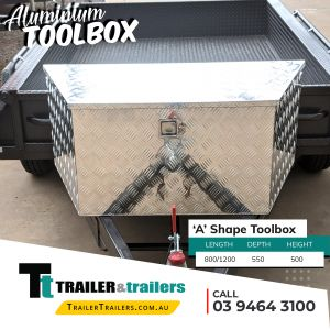 A Shape Aluminium Toolbox For Trailer Storage and Sale in Melbourne Victoria