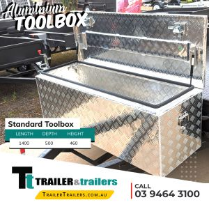 Standard Aluminium Toolbox Trailer Storage for Sale Melbourne Victoria