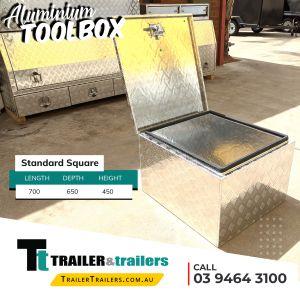 Standard Square Aluminium Toolbox for Trailer Storage for Sale in Melbourne Victoria