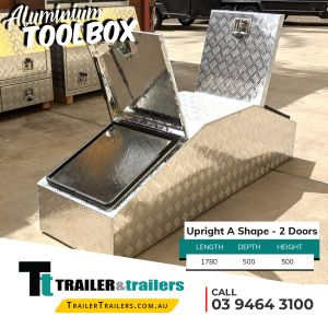 Upright A Shape 2 Doors Aluminium Toolbox Trailer Storage for Sale in Melbourne