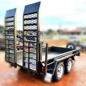 8x5 Tandem Axle Heavy Duty Plant Trailer with Single Drop Down Ramp for Sale in Victoria
