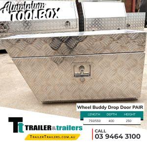 Wheel Buddy Drop Door Pair Aluminium Toolbox Trailer Storage for Sale in Melbourne Victoria